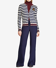 Ralph Lauren Petite Striped Cardigan