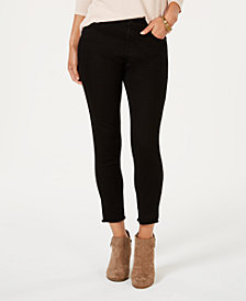 Style & Co Skinny Frayed-Cuff Ankle Jeans, Created for Macy's
