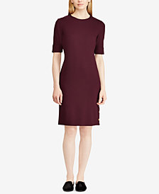 Ralph Lauren Modern Ponte Raena Elbow Sleeve Casual Dress