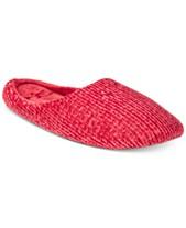 30b589ca7e5 Charter Club Chenille-Knit Scuff Slippers
