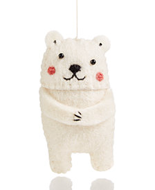 Global Goods Partners Felt Polar Bear Ornament