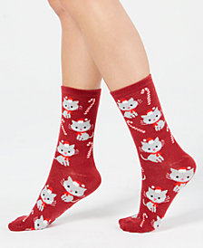 Charter Club Women's Cat Crew Socks, Created for Macy's