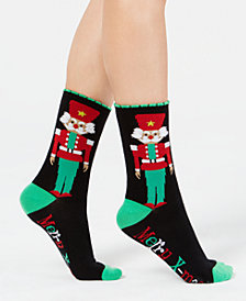 Charter Club Women's Nutcracker Crew Socks, Created for Macy's