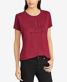 Lauren Ralph Lauren  Petite Studded T-Shirt