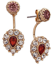 lonna & lilly Gold-Tone Pavé & Stone Jacket Earrings