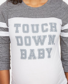 Motherhood Maternity Graphic Baseball Shirt
