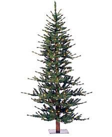 6' Minnesota Pine Half Artificial Christmas Tree with 200 Clear Lights