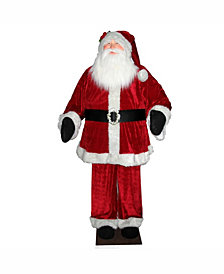 Vickerman 6' Red Velvet Standing or Sitting Santa Unlit