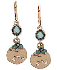 lonna & lilly Gold-Tone Pavé, Stone & Bead Double Drop Earrings