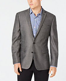 Bar III Grey/Black Print Slim-Fit Sport Coat