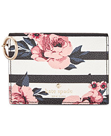 kate spade new york Hyde Lane Rose Stripe Wallet