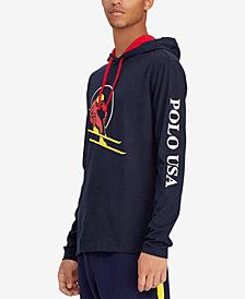 Polo Ralph Lauren Downhill Skier Men's Jersey Hooded T-Shirt