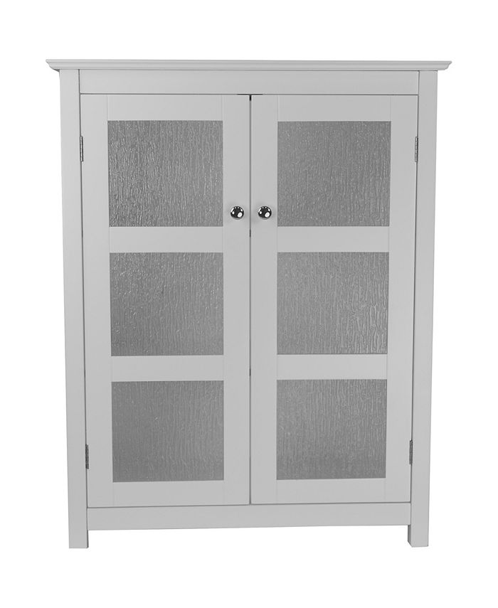 Elegant Home Fashions - Connor Floor Cabinet with 2 Glass Doors