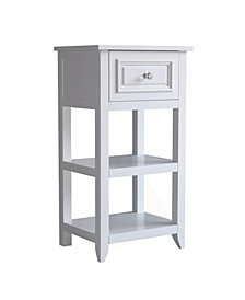 Dawson Floor Cabinet With One Drawer and Shelves