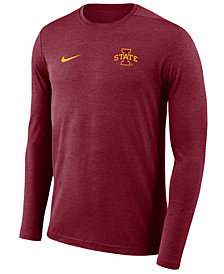 Nike Men's Iowa State Cyclones Long Sleeve Dri-FIT Coaches T-Shirt