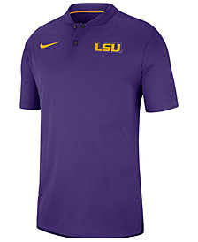 Nike Men's LSU Tigers Elite Coaches Polo 2018