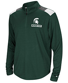 Colosseum Michigan State Spartans 99 Yards Quarter-Zip Pullover, Big Boys (8-20)