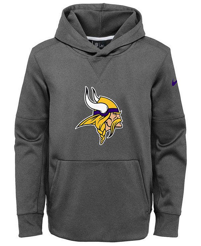 Nike Minnesota Vikings Circuit Logo Hoodie, Big Boys (8-20)