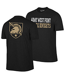 Retro Brand Men's Army Black Knights Team Stacked Dual Blend T-Shirt