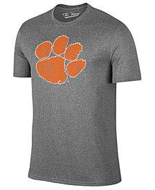 Retro Brand Men's Clemson Tigers Alt Logo Dual Blend T-Shirt