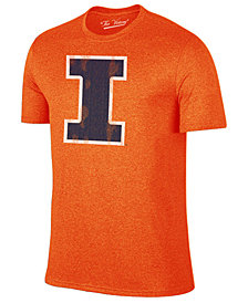 Retro Brand Men's Illinois Fighting Illini Alt Logo Dual Blend T-Shirt