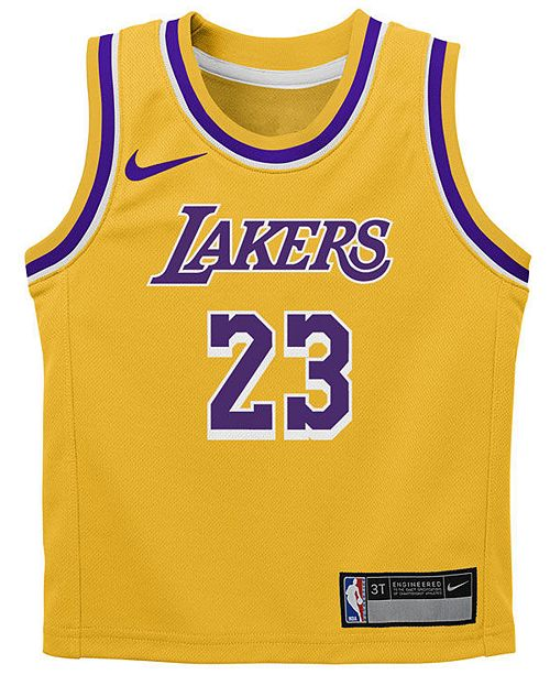 buy online 09cef 50cbe Nike LeBron James Los Angeles Lakers Icon Replica Jersey ...