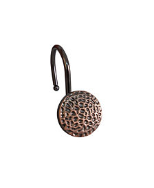 Shower Hooks -Hammered Round - Oil Rubbed Bronze