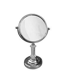 Freestanding Bath Magnifying Makeup Mirror
