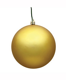 "6"" Gold Matte Ball Christmas Ornament, 4 per Box"