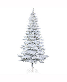 Vickerman 7' Snowy Alpine Artificial Christmas Tree with 400 Warm White LED Lights
