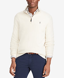 Polo Ralph Lauren Men's Half-Zip Wool and Cashmere Blend Sweater, Created for Macy's