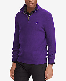 Polo Ralph Lauren Men's Cashmere Blend Half-Zip Sweater, Created for Macy's