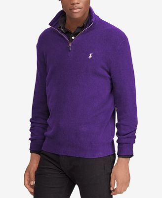 Polo Ralph Lauren Mens Cashmere Blend Half Zip Sweater Created For