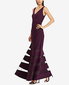 Lauren Ralph Lauren Tulle-Trim Gown