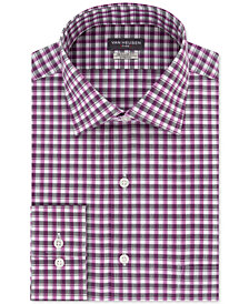 Van Heusen Men's Classic/Regular Fit Flex Collar Stretch Check Dress Shirt