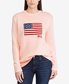 Polo Ralph Lauren Pink Pony Graphic Cotton Sweater