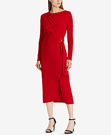Lauren Ralph Lauren Buckled Wrap Dress