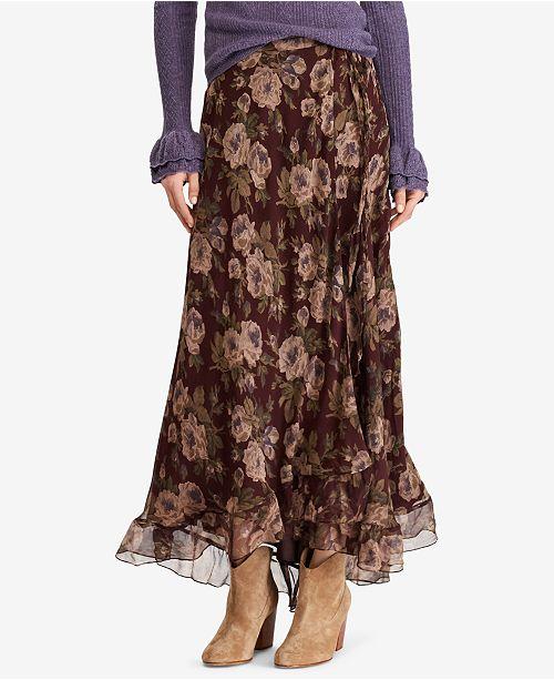 258a230953 Polo Ralph Lauren Floral-Print Maxiskirt   Reviews - Skirts - Women ...