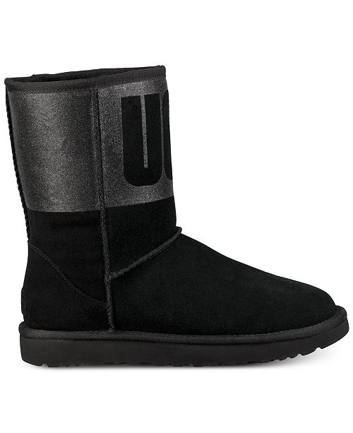c05e0b0fa78 UGG® Women s Classic Short Sparkle Boots   Reviews - Boots - Shoes ...