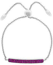EFFY® Ruby Cluster Bolo Bracelet (1-1/10 ct. t.w.) in Sterling Silver