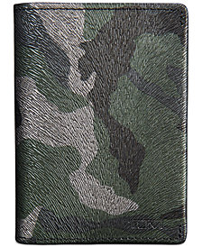 Tumi Men's Nassau Printed Leather Gusseted Card Case