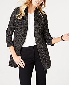 Kasper Long Jacquard Jacket