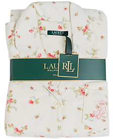 Lauren Ralph Lauren Long Printed Pajama Set