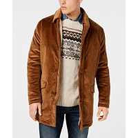 Bar III Men's Classic/Regular Fit Corduroy Overcoat Deals