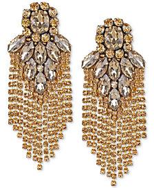 Deepa Crystal Fringe Chandelier Earrings