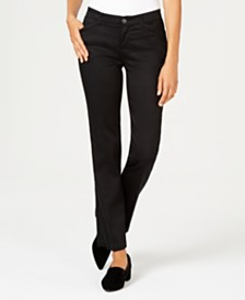 Lee Platinum Petite Flex Motion Straight-Leg Jeans