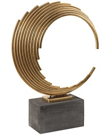 Uttermost Saanvi Curved Gold Rods Sculpture