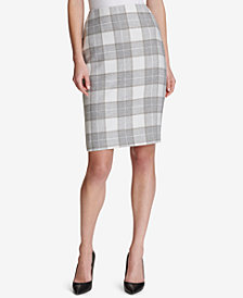 Tommy Hilfiger Plaid Pencil Skirt