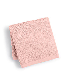 LAST ACT! Juliette LaBlanc Cotton Zig-Zag Textured Wash Towel