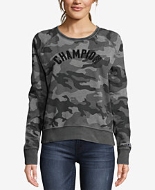 Champion Heritage Vintage-Dyed Camo-Print Fleece Sweatshirt